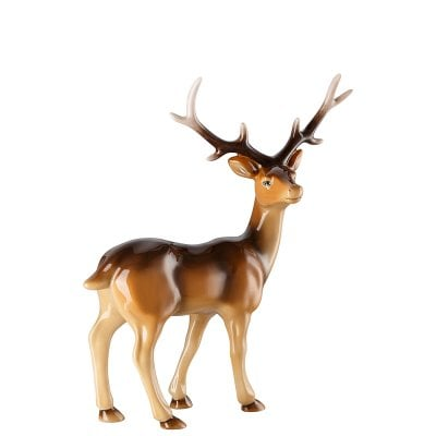 Figurine Cerf grand Cozy Winter Dekoriert