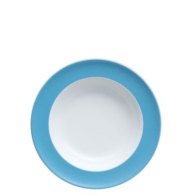 Plate deep 23 cm Sunny Day Waterblue