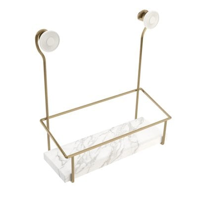 Shower soap dish Equilibrium White mat Bronze