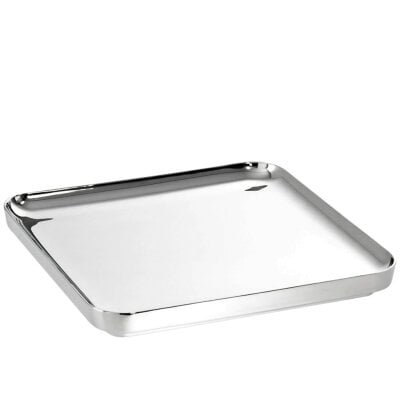 Tray squared 35 x 35 cm t-light Stainless steel 18/10