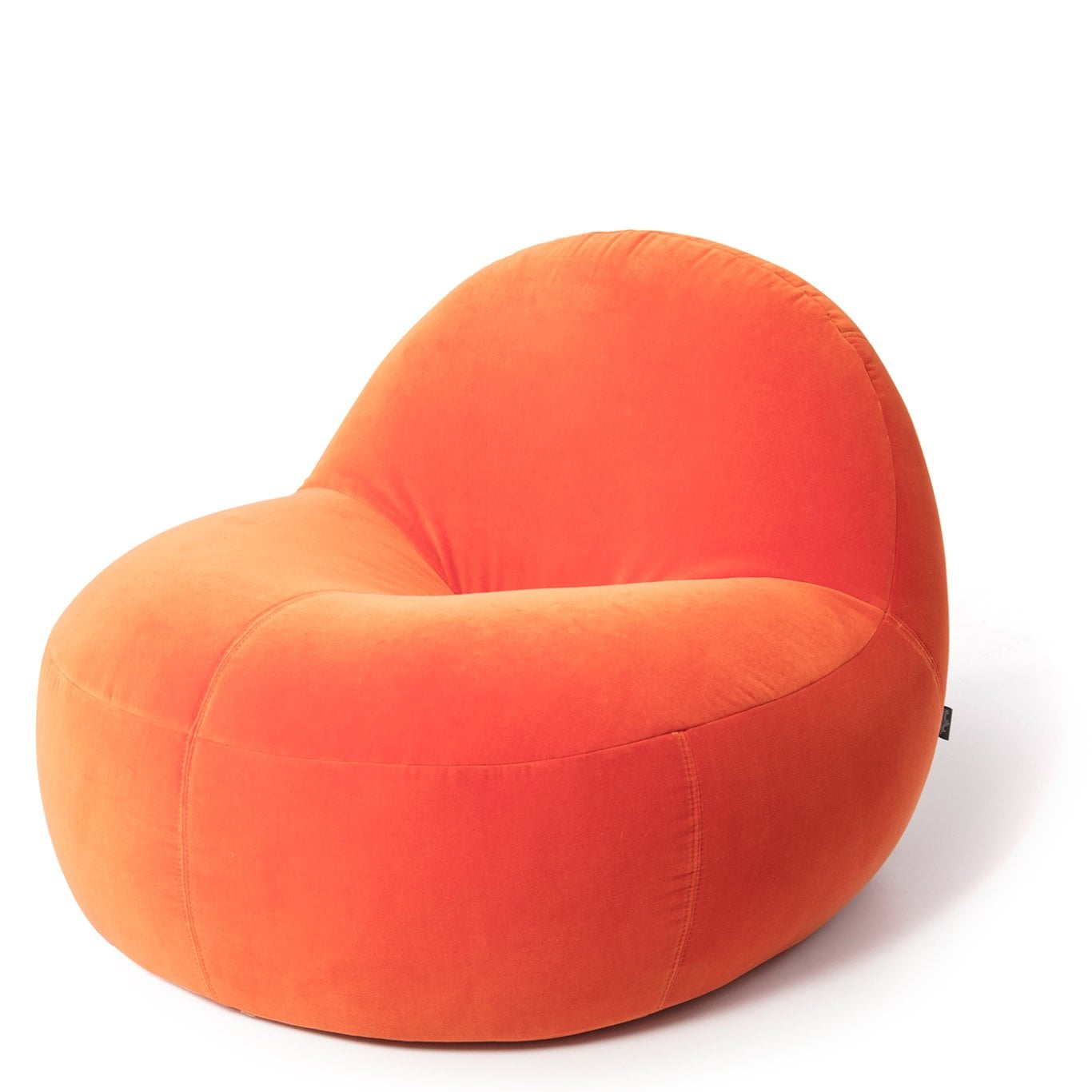 scoop - orange | Samt Stoff