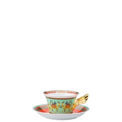 Set plate + cup & saucer / 25 years Versace Marco Polo