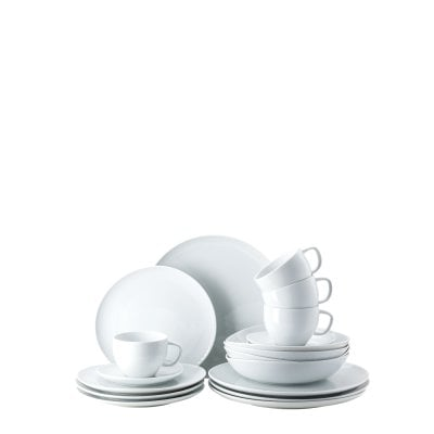 Set 20 pcs. with combi cup & saucer Junto White
