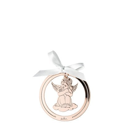 Anhänger Engel sitzend 8 cm Silver Collection Angels Rose Gold