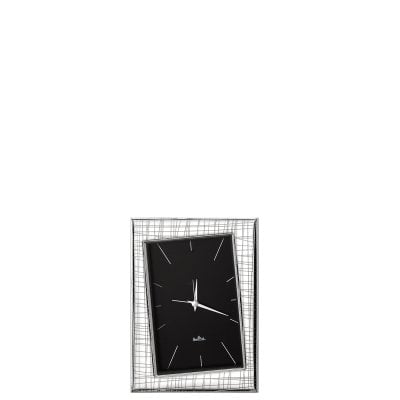 Table-clock 10 x 15 cm Silver Collection Groove