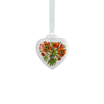 Porcelain mini-heart Spring greetings Feuerröschen