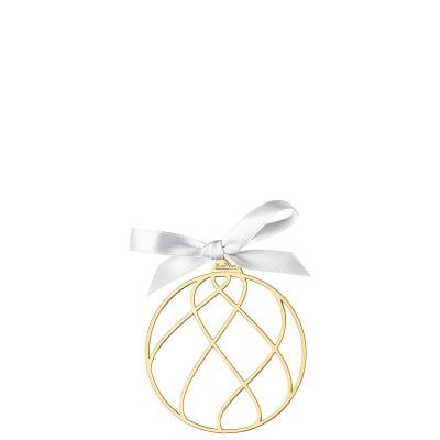Pendant Christmas Ball 8 cm Silver Collection Christmas Gold