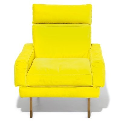 Armchair with neck support MODULAR Neon Yellow Fabric