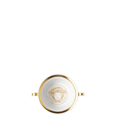 Suppentasse 2-tlg. Versace Medusa Gala Gold