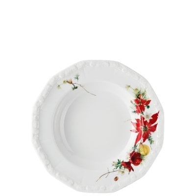 Plate deep 23 cm Maria Winter Rose
