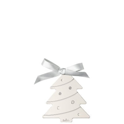 Pendantif arbre de noël 8 cm Silver Collection Christmas Silver