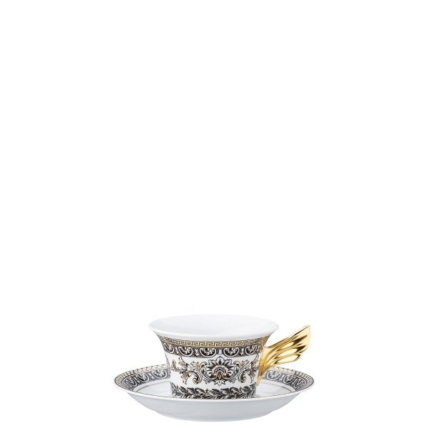 Set plate + cup & saucer / 25 years Versace Marqueterie