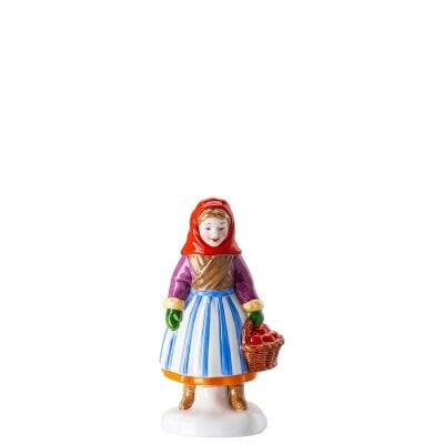 Woman with fruit Figurines Christmas bakery