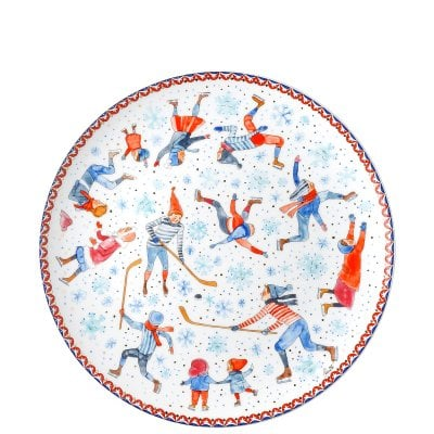 Biscuit plate 28 cm Sammelkollektion 18 Winter pleasures
