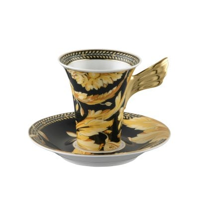 Cup & saucer 4 tall Ikarus Vanity