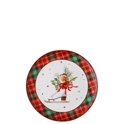 Assiette plate 20 cm Cozy Winter Schlittschuh