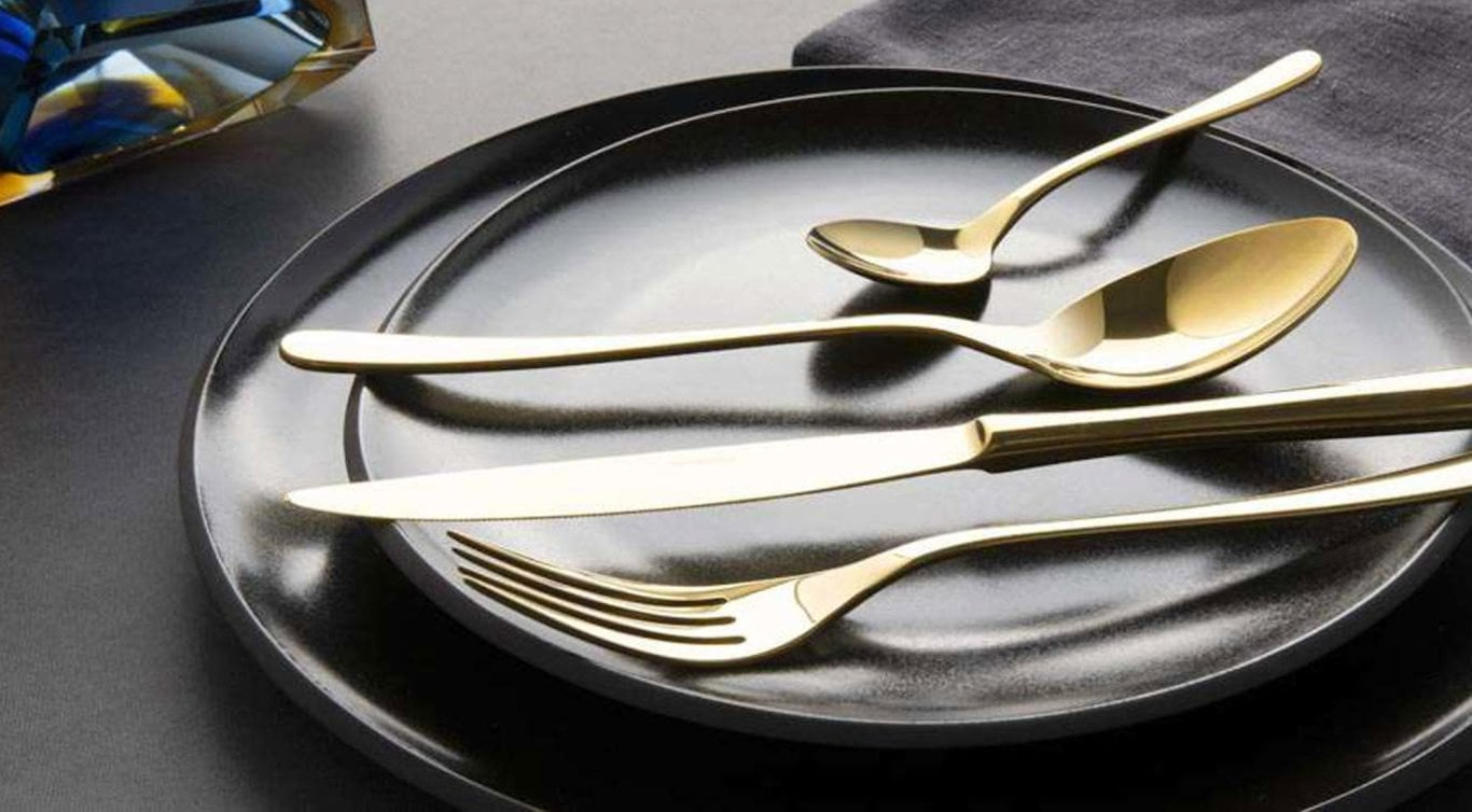 Gold for the table - Bring glamour to your table with our elegant golden cutlery sets